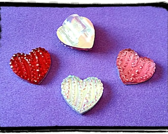 Tube Trinkets:  Jewel Hearts!  For a pair, select quantity 2.