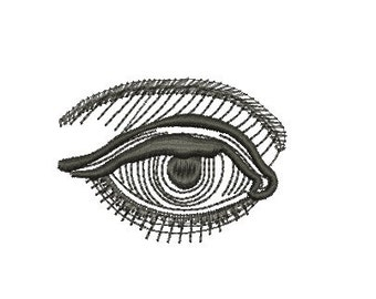 eye embroidery design