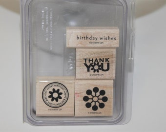 Stampin' Up! Retired Wow Flowers wood mount