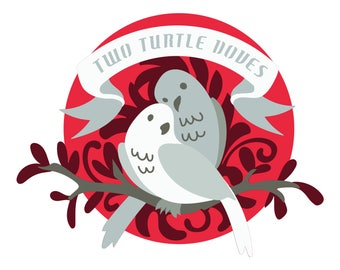Two Turtle Doves SVG