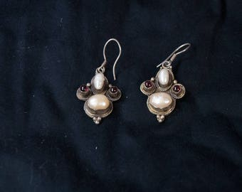 Freshwater Pearl Sterling Silver Drop Earrings