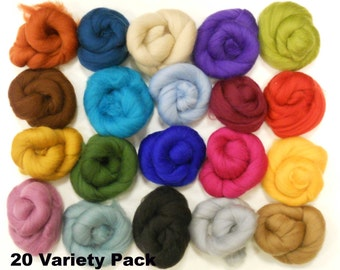 Felting Wools - Merino Wool Tops - 20 colours