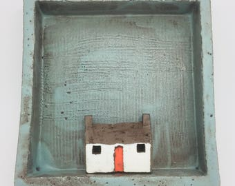 Ceramic Square Wall Hanging Cottage
