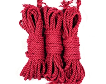 Jute bondage rope - Red