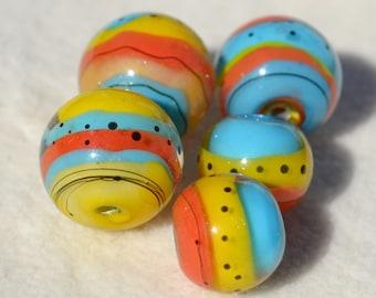 Artisan Lamp Work Beads- Lot 447
