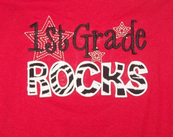 1st Grade Rocks shirt First Grade Rocks Teacher shirt School shirt