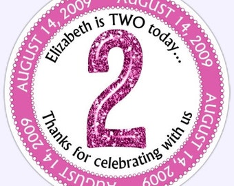 Custom 2nd Birthday Labels, Second Birthday Stickers - Personalized for YOU