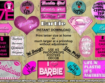 Barbie Style, Barbie Doll, INSTANT DOWNLOAD, Mattel, Doll, Toy, Fashion, Beauty, Blonde, Brunette, Hair, Clothes, DIY, photo prop files, fun