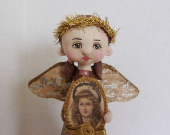 Angel of Rememberance original folk art doll