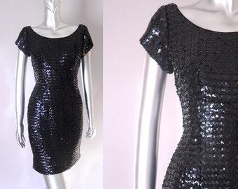 vintage sequin wiggle dress | 1960s sequin dress | vintage 1960s dress