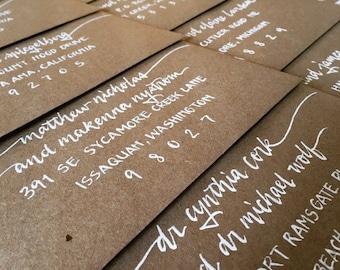 WEDDING CALLIGRAPHY ERNEST : Custom Wedding Calligraphy Envelope Addressing