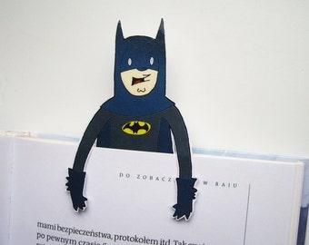 Batman bookmark - last minute gift christmas unique bookmark handmade