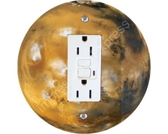Planet Mars Space GFI Outlet Plate Cover