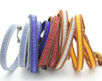 One Color Seed Beads Wrap Bracelets