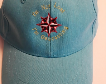Embroidered Hat HAT5-1 - I'm Not Lost -- I'm Geocaching - FREE SHIPPING in US