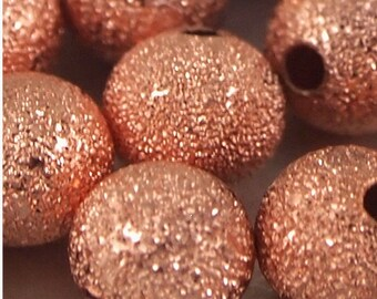6mm Copper Stardust Beads-Qty 25 (MW 6ST C)