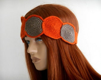 crochet boho band, Hippie headband, Crochet hair band, Unique Hair Band, Bohemian Head Band, Knit Hair Band, Hair Band for Women, Knit band