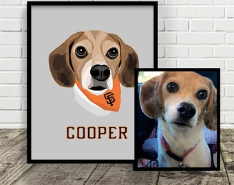 CUSTOM PET ILLUSTRATION | Sports Team | Dog | Cat | Gift | Made from your photo