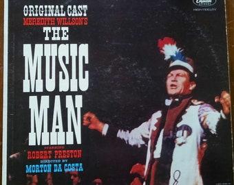 The Music Man LP, 1958 Vintage Vinyl Record of Original Broadway Cast w/ Robert Preston, Barbara Cook. Great Broadway, Musical Theatre Gift