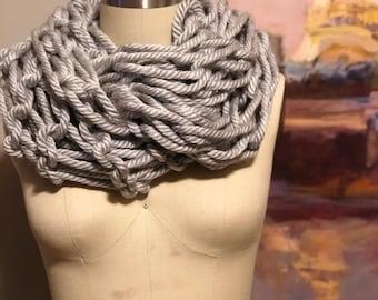 Arm Knit Chunky Infinity Scarf