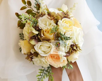 artificial flower wedding brides bouquets rose