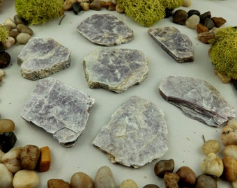 10% Off 7 LEPIDOLITE Crystals (180 grams) Natural, Raw Lithium Mica Specimens #Lep12