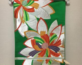 Vintage Japanese Obi Kyoto Nishijinori Maiko Kimono Fabric