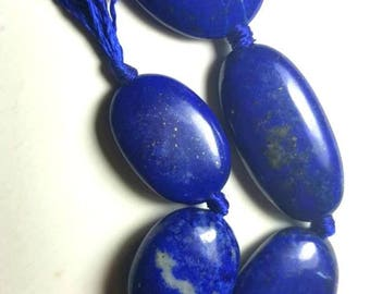 100% NATURAL polished Lapis Lazuli Beads strand necklace from Afghanistan