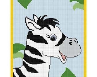 Zebra head pattern | Etsy