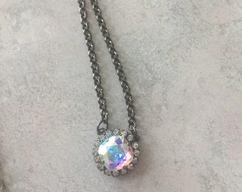 Swarovski Single Stone necklace with crystals
