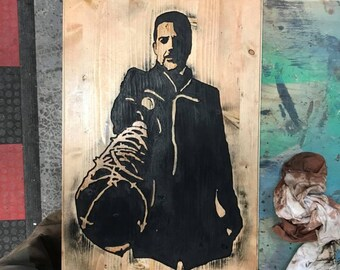 Walking Dead Negan Wood Art