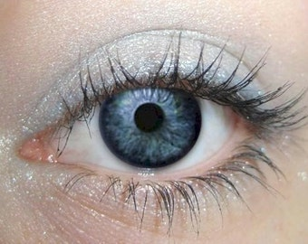 Pale Blue Ice, Light Blue Eyeshadow,  WILLOW, Mineral Eye Color, Pale Blue Ice Eye, Blue Vegan Eye Shadow, Light Blue Shimmer, Blue Eyes
