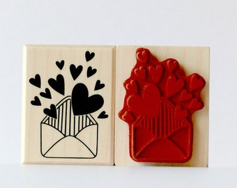 Stamp envelope heart love letter