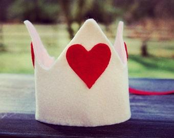 Valentine's day birthday crown, valentine's day birthday hat, boy's birthday crown, girl's birthday crown, first birthday crown
