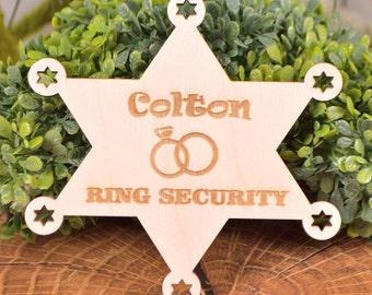 Ring Security Badge, Ring bearer badge, Ring bearer gift, Ring Bearer sheriff badge, Official ring bearer badge, Ring Bearer, Wedding gifts