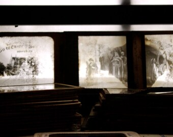 Antique Glass Slides (Color and Black and White)  FAIR CONDITION (1915)