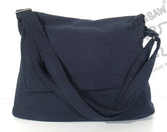 10% Off [Orig. 18.99] Messenger bag Navy blue bag Crossbody bag Sling purse Shoulder Bag Tote