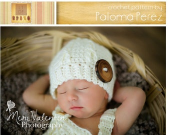 INSTANT DOWNLOAD - Crochet Pattern - Little Mister Cable Beanie - Crochet Cable Hat Pattern