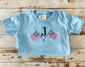 Flag Patriotic Monogram Shirt
