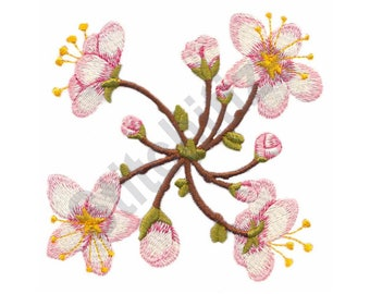 Flowers - Machine Embroidery Design, Blossoms, Spiral