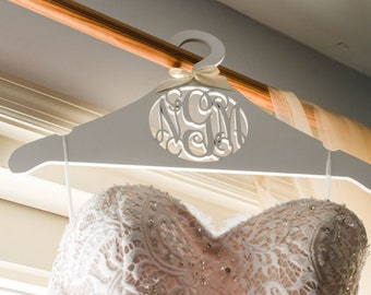 Wedding Dress Hanger - Personalized Bride's Hanger - Monogram Hanger For The Bride - Bridesmaids Gift