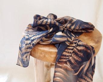 foulard Vintage feuille pure