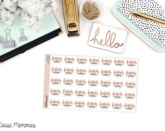 FEARLESSLY AUTHENTIC Paper Planner Stickers