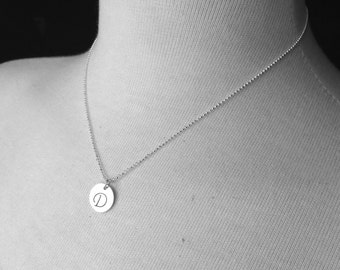 Monogram Necklace, Letter D Necklace, Personalized Jewelry, Letter D Pendant, Charm Necklace, Initial Necklace, Sterling Silver Jewelry, D
