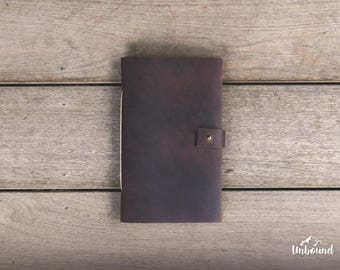 THE RANGER: Rustic hand-bound leather notebook or travel journal