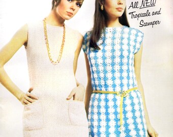 Vintage Knitting Crochet Patterns 1960s Sheath Dresses Suits Fashion On the Go Columbia Minerv 774 Hand Knit Crochets Patterns