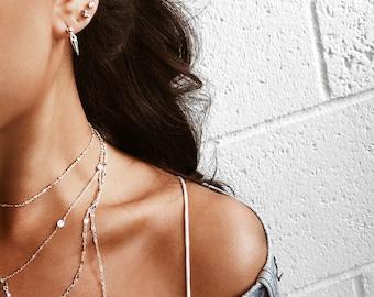 Silver spike earrings, Spike earrings, Dainty earrings, Sterling silver spike earrings, Tiny spike earrings, Dangle earrings, Silver stud