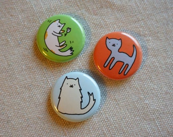 Cat Lover Button Set
