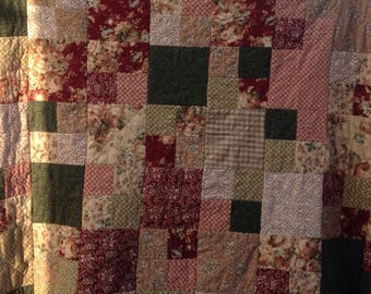 Handmade Ragtime Quilt or Throw