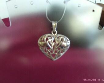 Heart Pendant Sterling Silver